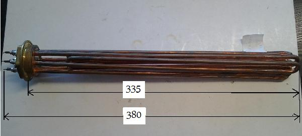 Fűtőbetét Kazán,Puffer (6/4coll) 4.5KW