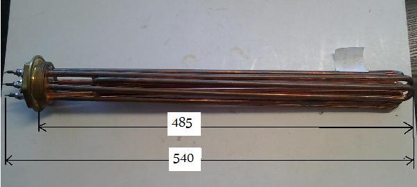 Fűtőbetét Kazán,puffer (2 coll) 9KW