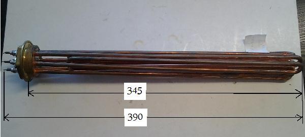 Fűtőbetét Kazán,Puffer (5/4coll) 4.5KW