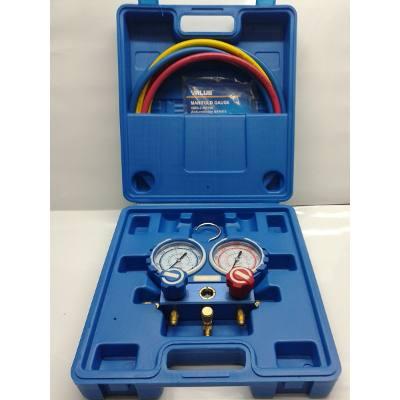Szervízcsaptelep R410 hűtőközeghez tömlővel