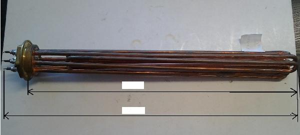 Fűtőbetét Kazán,Puffer (2 coll) 4,5KW