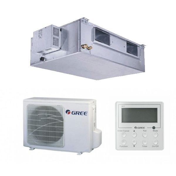 GREE GUD71PS/A-T légcsatornás hűtő-fűtő hőszivattyús inverteres split klíma