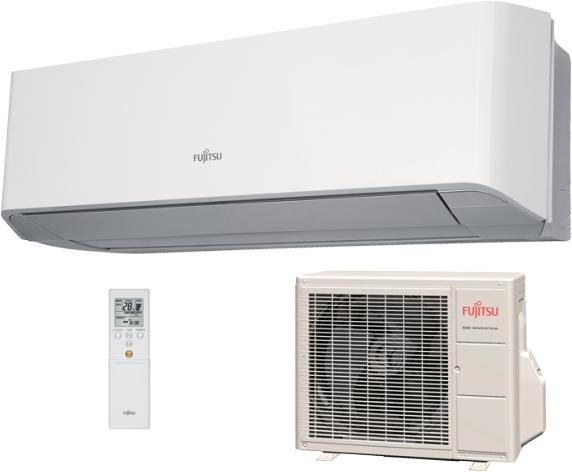 FUJITSU ASYG 12 KGTA / AOYG 12 KGCA DESIGNER R32 hűtő-fűtő hőszivattyús inverteres split klíma