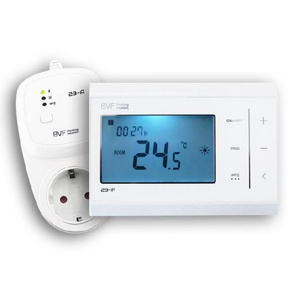 BVF 23-FA – RF termosztát hálózati csatlakozóval